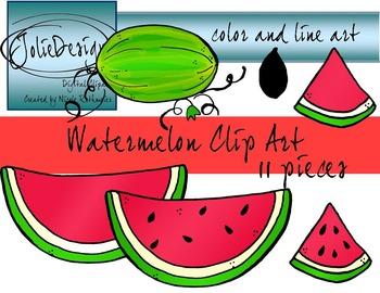 Watermelon Clip Art - 11 pc set