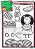 Watermelon Clip Art with black and white versions