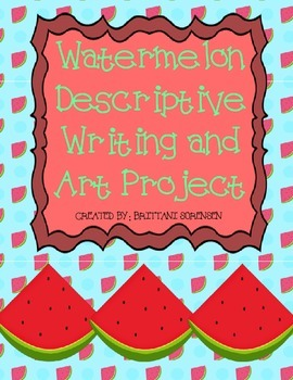 Watermelon Creative Writing and Art Project