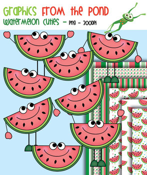 Watermelon Cuties - Clipart for Teachers and Classrooms