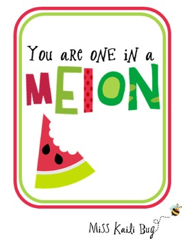 Watermelon Day Handout