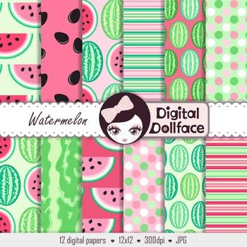 Watermelon Digital Paper