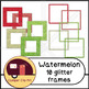Watermelon Glitter and Solid Colors FRAMES {CU - ok!} Pink