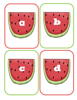 Watermelon Lowercase Flashcards