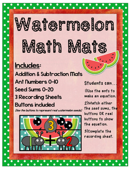 Watermelon Math: Addition & Subtraction