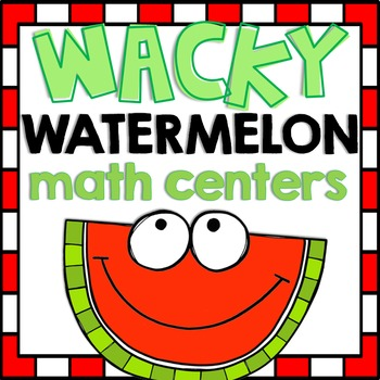 Watermelon Math Centers with Recording Sheets and Printables