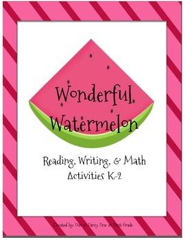 Watermelon Math and Literacy Mini Unit