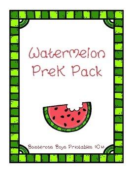 Watermelon PreK Printable Learning Pack