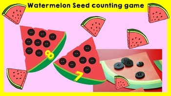 Counting Activity - Watermelon Seed
