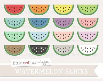 Watermelon Slice Clipart; Fruit