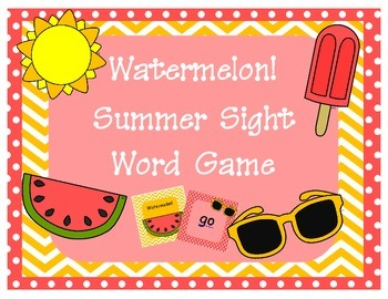 Watermelon! Summer Sight Word Game