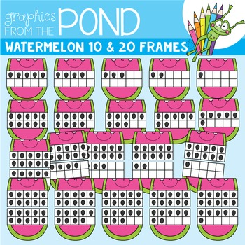 Watermelon Ten and Twenty Frame Clipart