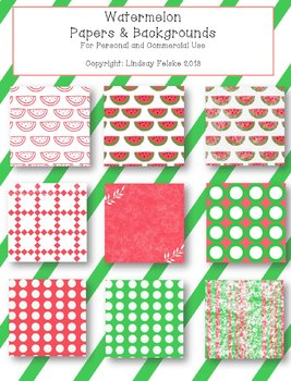 Watermelon paper and backgrounds