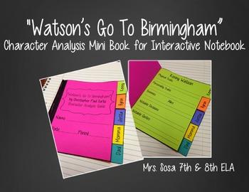 Watson's Go To Birmingham Interactive Notebook - Character