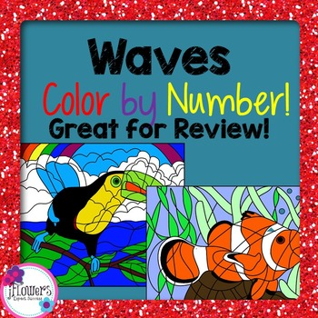 Waves Color by Number Activity! Great for Review!