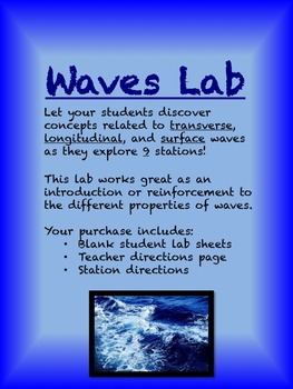 Waves Lab--Includes Transverse and Longitudinal Waves Exploration