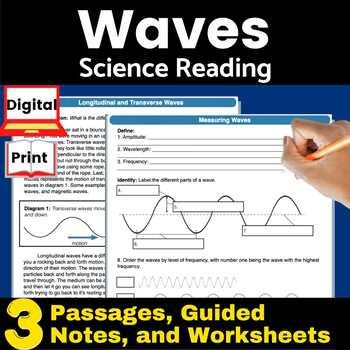 Waves (Longitudinal and Transverse) Guided Reading