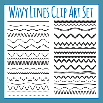 Wavy Lines Clip Art Pack for Commercial Use