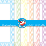 Wavy Page Frames — Pastel Colors (9 Frames)