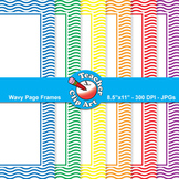 Wavy Page Frames — Primary Colors (11 Frames)