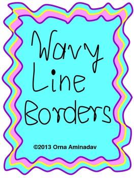 Wavy line Borders