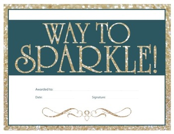 Way to sparkle Certificate