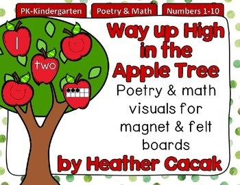 Way up High in the Apple Tree Felt & Magnet Board Activity