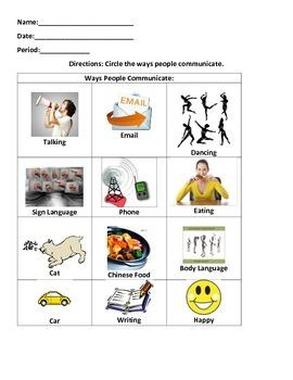 Ways People Communicate Worksheet
