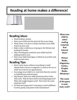 Ways to Build Reading at Home