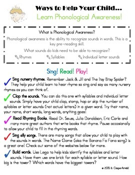 Ways to Help Your Child Learn Phonological Awareness Paren