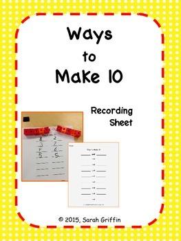 Ways to Make 10 Recording Sheet