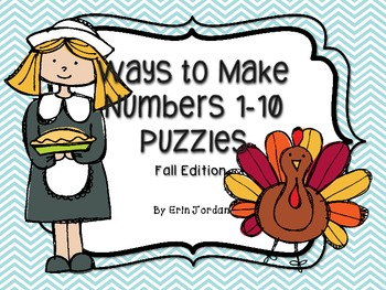 Ways to Make Numbers 1-10 Puzzles Fall Edition