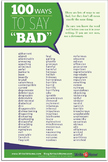 """Ways to Say """"Bad"""" Poster"""