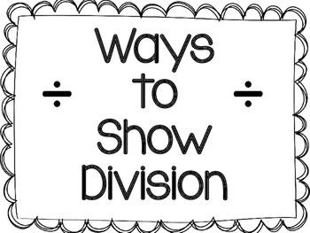 Ways to Show Division