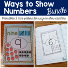 Ways to Show Numbers 1-20 BUNDLE {Printables & Posters}