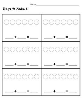 Ways to make 6, 7, 8, 9