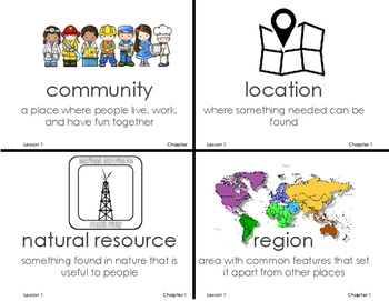 We Are Connected Vocabulary Ch 1-8 Grade 3