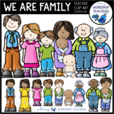 We Are Family Clip Art - Whimsy Workshop Teaching