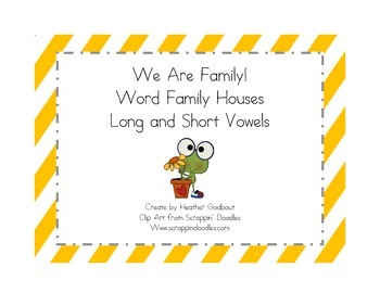 We Are Family Word Family Houses