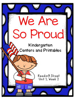 We Are So Proud, Kindergarten, Centers and Printables, Rea