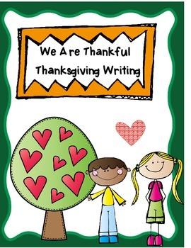 Thanksgiving  -  Writing Process Unit