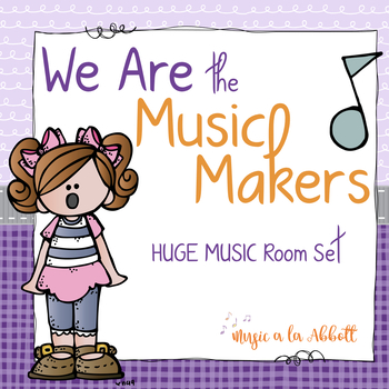 We Are the Music Makers: a HUGE Set of Visual Aides and Cl