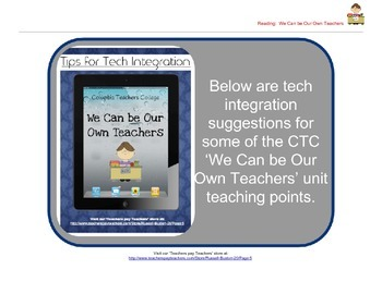 We Can Be Our Own Teachers: Reader's Workshop iPad Tech In