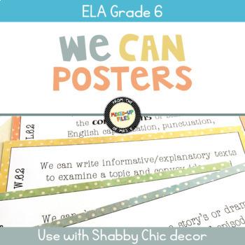 We Can Statements ELA Grade 6