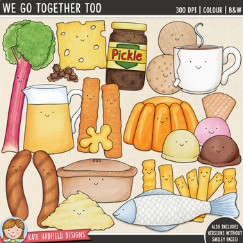 "Food Pairs Clip Art 2: ""We Go Together Too..."""