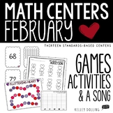 Math Centers - February (Common Core - 1st Grade)