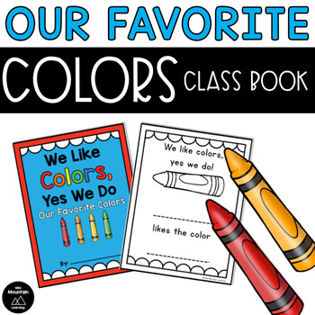 Favorite Colors Class Book