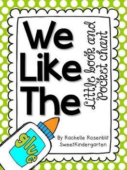 """We Like The"" Little Book & Pocket Chart Set"