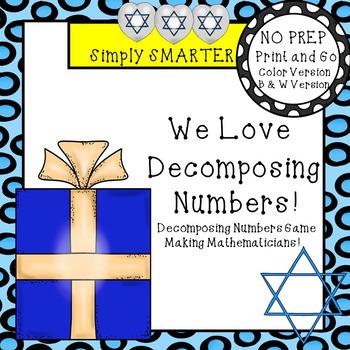 We Love Decomposing Numbers!:  NO PREP Hanukkah Themed Rol