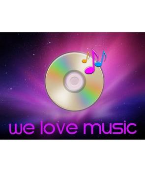 We Love Music Poster-CD Design